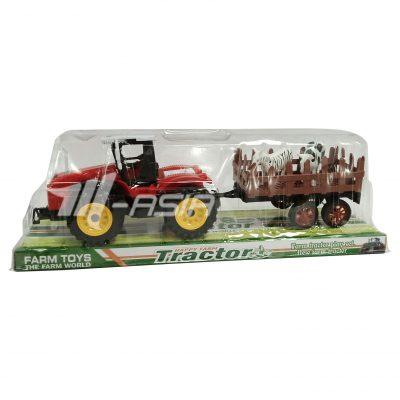 Boerderij tractor met vee