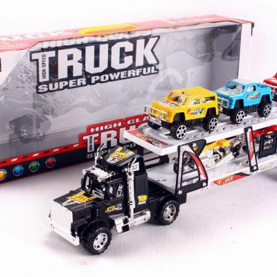 Container met frictie speelauto's